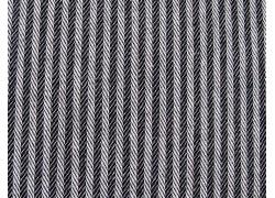 Taschenstoff Streifen Fischgrät Justus schwarz