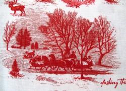 Weihnachtsstoff Patchworkt Toile de Jouy Yuletide
