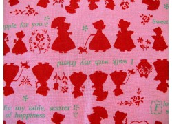 Patchworkstoff Mädchen rot rosa Lecien
