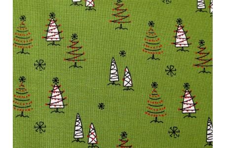 Weihnachtsstoffe Patchwork Merry Little Christmas Christbaum