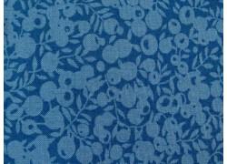 Patchworkstoff Beeren azurblau Wiltshire Liberty