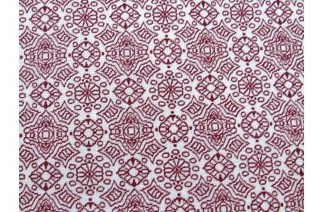 Westfalenstoff Ornamente rot weiß Lugano