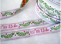 Webband Weihnachten Fest der Liebe acufactum