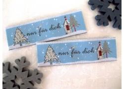 Web-Etiketten Aufnäher nur für dich Weihnachten