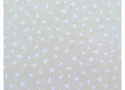 Patchworkstoff Sterne cremeweiß Muslin Mates Quiltstoff