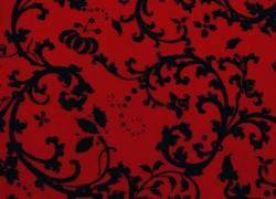 Patchworkstoff Ranken rot schwarz Moroccan Red Quiltstoff