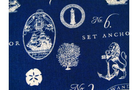 Patchworkstoff Schiffe maritim blau Hidden Cove