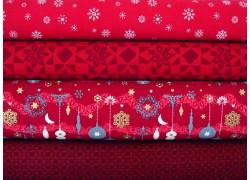 Stoffpaket Weihnachten rot 74100