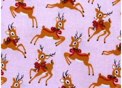 Weihnachtsstoffe Patchwork Rehe Merry and Bright