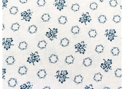 Blumenstoff blau creme Abigail Blue Patchworkstoff