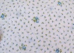 Rosenstoff Dover blau weiß Patchworkstoff