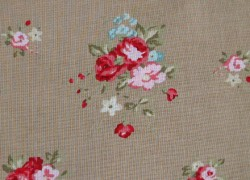 Patchworkstoff Rosenstoff Caroline braun rosa