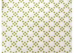 Designerstoff grün Punkte Dover Patchworkstoff