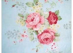 Rosenstoff türkis Patchworkstoff Durham Collection