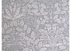 Patchworkstoff Ornamente Blumen grau Dover Quiltstoff