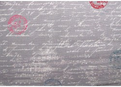 Designerstoff Schrift Noten grau weiß Travel Notes