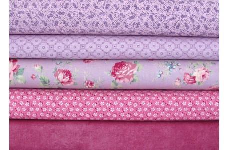 Stoffpaket lila malve