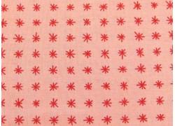Designerstoff Sternestoff rot rosa To Be Jolly