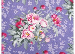 Tilda Stoffe Blumenstoff lila Woodland Hazel Lavender