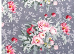 Tilda Stoffe Blumenstoff Woodland Hazel pink grau