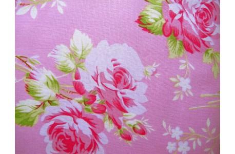 Stoff Rosen pink